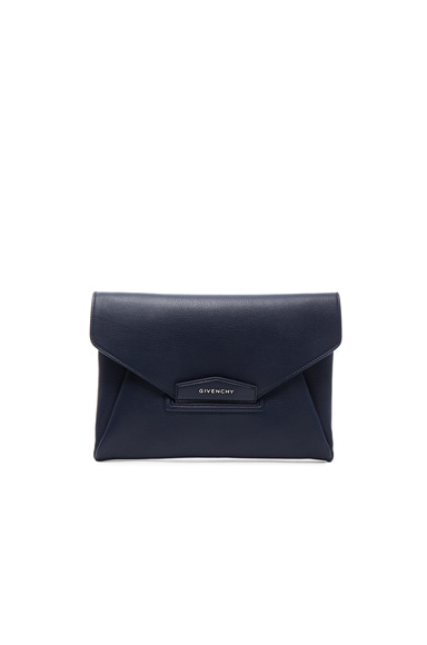 Givenchy Medium Antigona Envelope Clutch in Navy