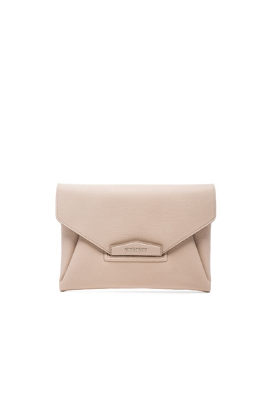 Givenchy Medium Antigona Envelope Clutch in Nude Pink