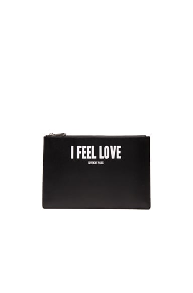 Givenchy Medium I Feel Love Printed Pouch in Black