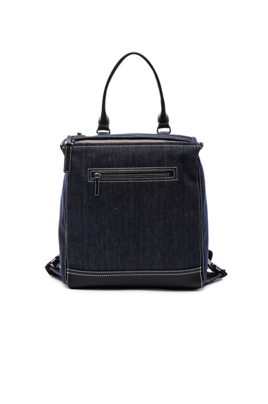 Givenchy Pandora Denim Backpack in Blue & Black