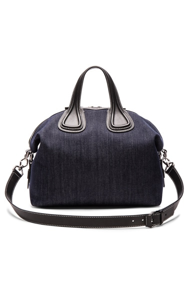 Givenchy Medium Denim Nightingale in Blue & Black