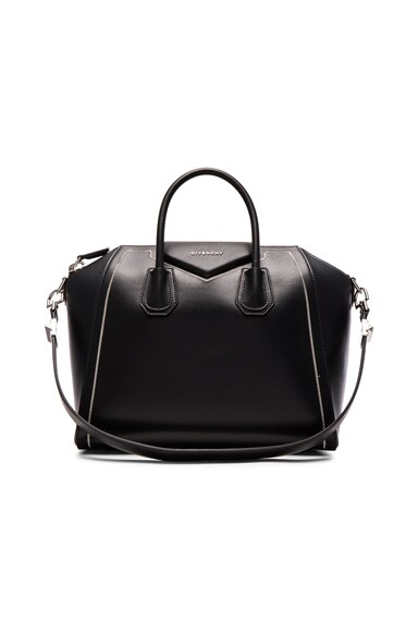 Givenchy Medium Antigona with Chain Detail in Black