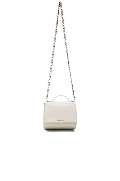 Givenchy Mini Chain Pandora Box in Ivory