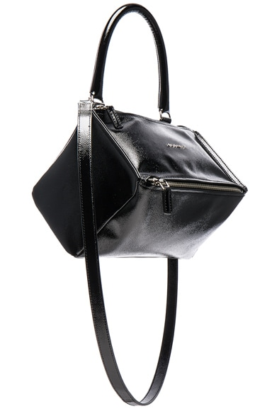 Givenchy Pandora Patent Small Bag in Black
