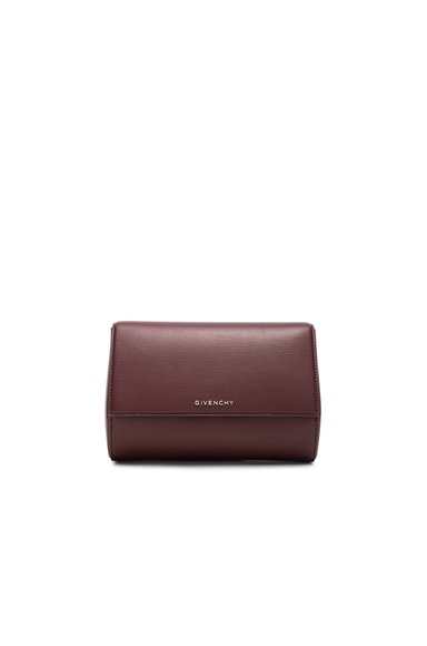 Givenchy Pandora Box Clutch in Oxblood