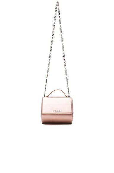 Givenchy Metallic Pandora Chain Box in Link Pink