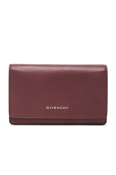 Givenchy Pandora Chain Wallet in Oxblood