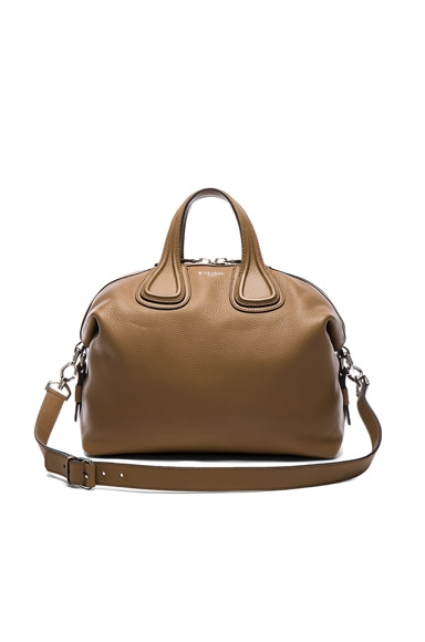 Givenchy Medium Waxy Leather Nightingale in Cappuccino