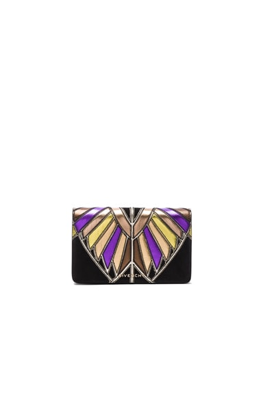 Givenchy Wings Leather Patchwork Pandora Chain Wallet in Multi