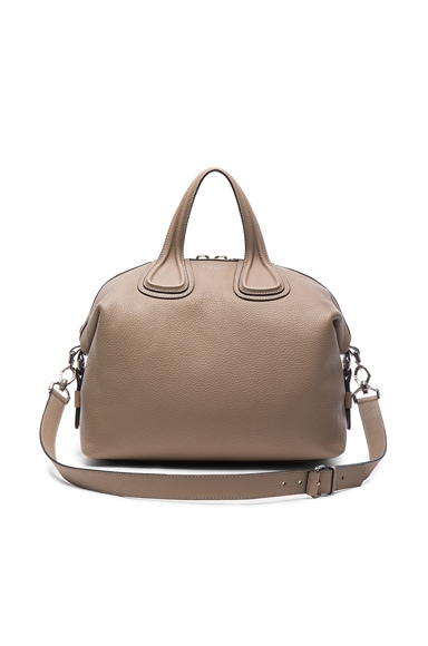 Givenchy Medium Waxy Leather Nightingale in Mastic
