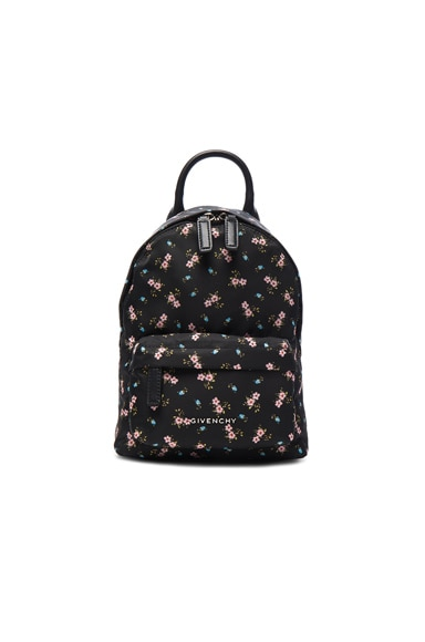 Givenchy Nano Pink Hibiscus Printed Nylon Backpack in Multicolor