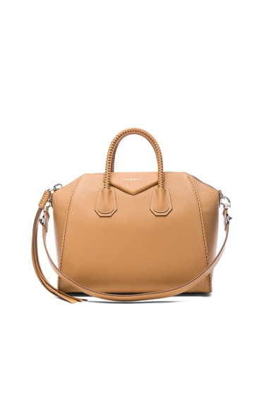 Givenchy Medium Braided Leather Antigona in Medium Beige