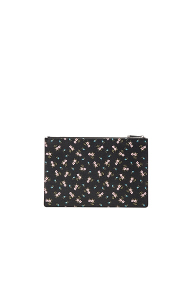Medium Pink Hibiscus Printed Pouch