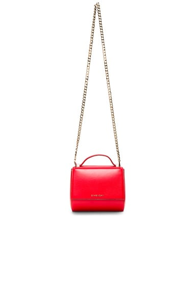 Givenchy Mini Chain Pandora Box in Medium Red