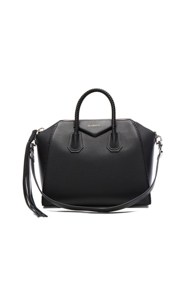 Givenchy Medium Braided Leather Antigona in Black