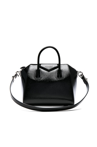 Givenchy Small Patent Leather Antigona in Black