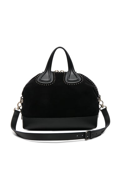 Givenchy Medium Stud Detail Suede Nightingale in Black