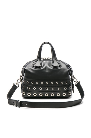 Givenchy Medium Stud Detail Leather Nightingale in Black