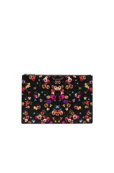 Large Night Pansies Pouch Givenchy