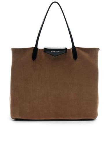 Large Shearling Antigona Reversible Shopping Bag