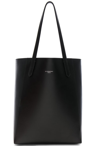 Small Smooth Leather & Metallized Lining Stargate Tote