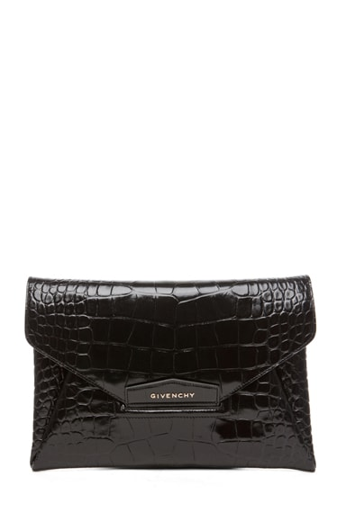Antigona Croc Envelope Clutch