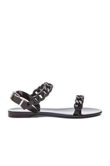 GIVENCHY Chain Jelly Sandals in Black