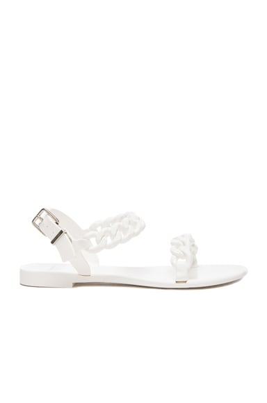 GIVENCHY Flat Jelly Chain Sandals in White