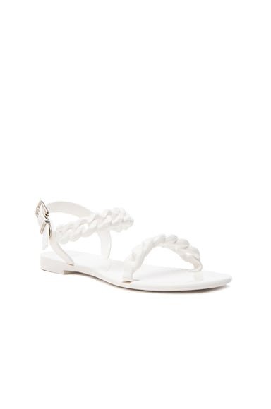 Flat Jelly Chain Sandals