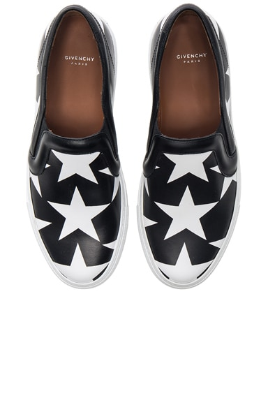 Givenchy Star Print Skate Sneakers in Black & White