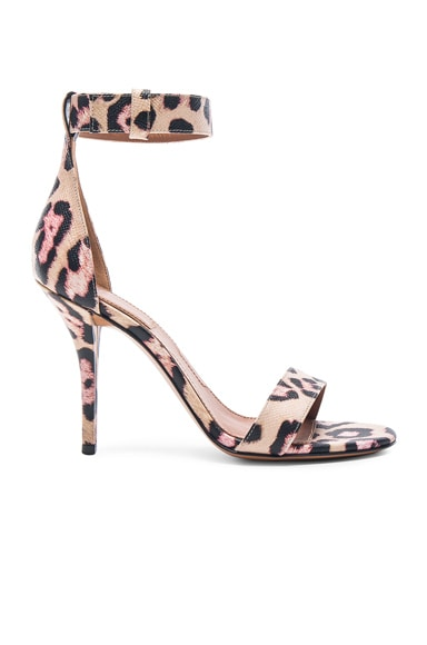 Givenchy Retra Jaguar Print Leather Heels in Multi