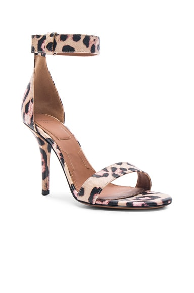 Retra Jaguar Print Leather Heels