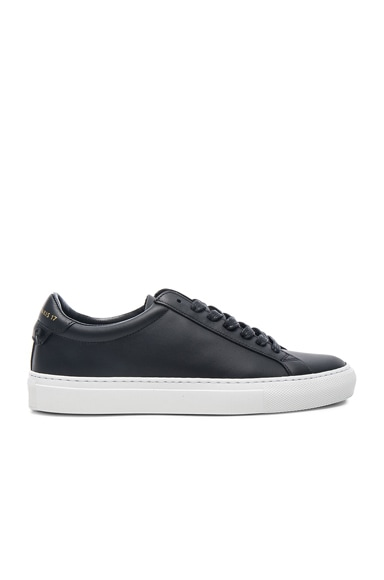 Givenchy Knots Leather Low Sneakers in Black