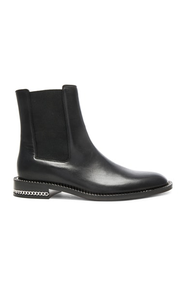 GIVENCHY Leather Ronela Flat Ankle Boots in Black