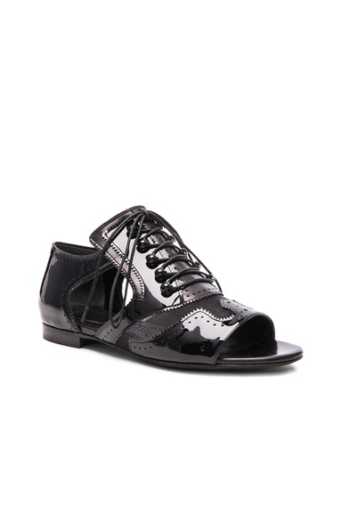 Cut Out Patent Leather Flats