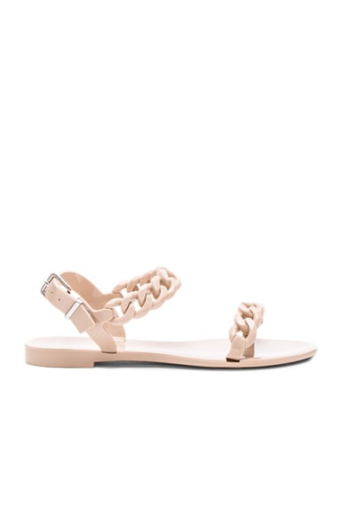 Givenchy Chain Link Jelly Sandals in Beige