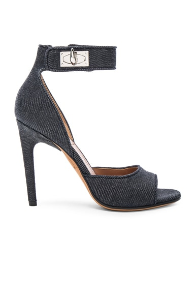 Givenchy Denim Shark Heels in Blue