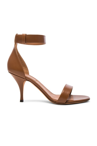 Givenchy Leather Kali Heels in Camel