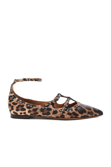 Givenchy Piper Leopard Print Leather Ballerina Flats in Multi