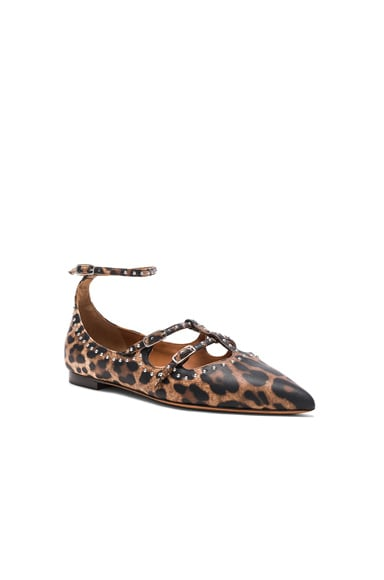 Piper Leopard Print Leather Ballerina Flats