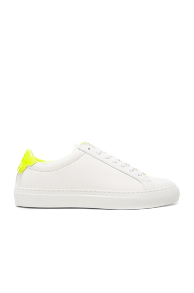 Givenchy Leather Urban Street Low Sneakers in White & Yellow