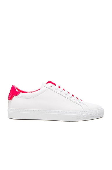Givenchy Urban Street Low Sneaker in White & Pink