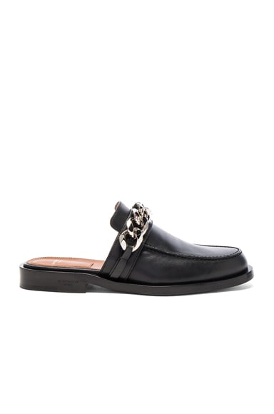 Givenchy Chain Leather Loafers in Black