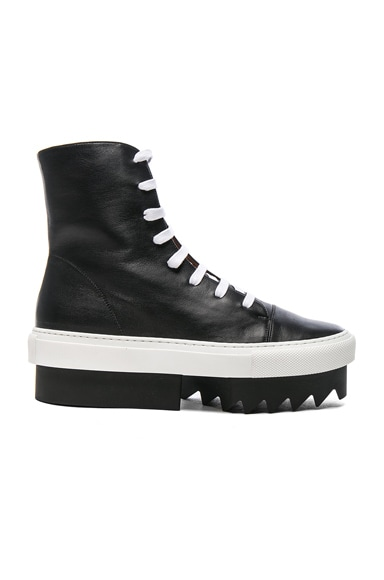 Givenchy Lace Up Platform Skate Sneaker in Black