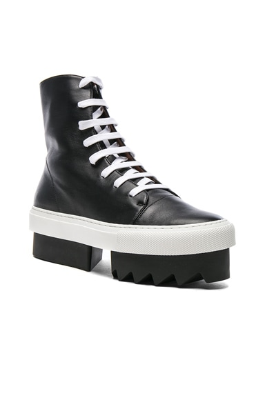 Lace Up Platform Skate Sneaker