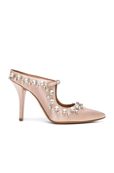Givenchy Feminine Satin Crystal Mule in Nude