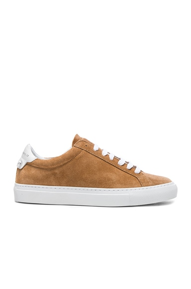 Givenchy Suede Knots Low Sneakers in Tan