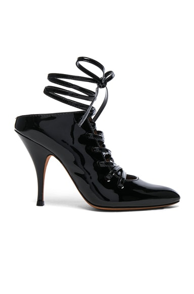 Givenchy Patent Leather Lace Up Heels in Black