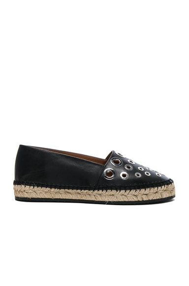 Givenchy Studded Leather Flat Espadrilles in Black