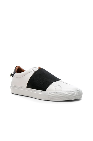 Leather Urban Street Elastic Strap Low Sneakers